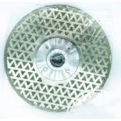 Диск алмазный  гальванический 125мм, улучшен. качество